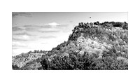 Grandad Bluff in early autumn, La Crosse, Wisconsin - Black and White